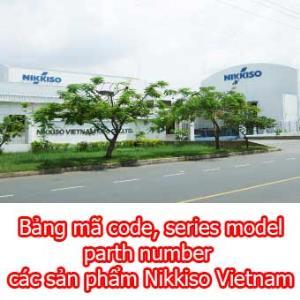 Bảng mã code, series model, part number các sản phẩm Nikkiso Vietnam
