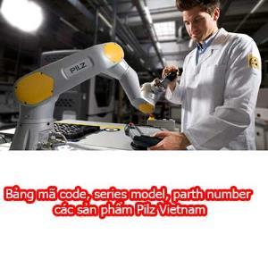 Bảng mã code, series model, part number các sản phẩm Pilz Vietnam