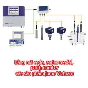 Bảng mã code, series model, part number các sản phẩm jumo Vietnam