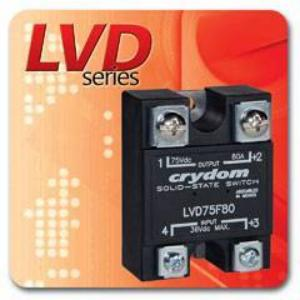 "Crydom Announces the ""LVD"" Series of Panel Mounted Low Voltage Disconnect DC Solid State Switches"