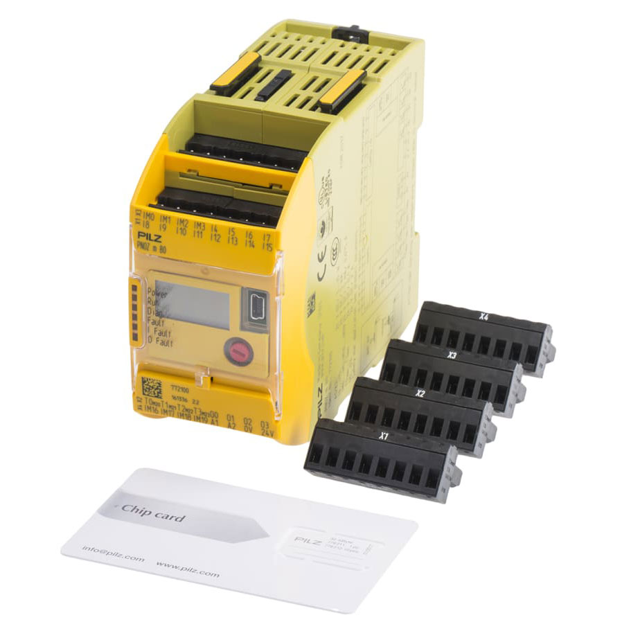 772100- Pilz PNOZmulti 2 PNOZ m BO Series Safety Controller, 20 Safety Inputs, 4 Safety Outputs, 24
