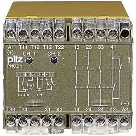 775695 Pilz - PNOZ 1 110-120VAC 3n/o 1n/c - Safety relay PNOZ X - E-STOP, safety gate, light grid