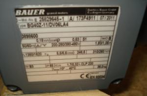 Danfoss-Bauer Helical-geared motor