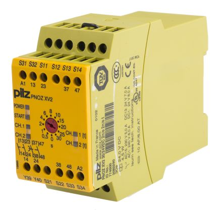 Pilz 24 V dc Safety Relay - Dual Channel With 2 Safety Contacts PNOZ X Range Compatible With Safety